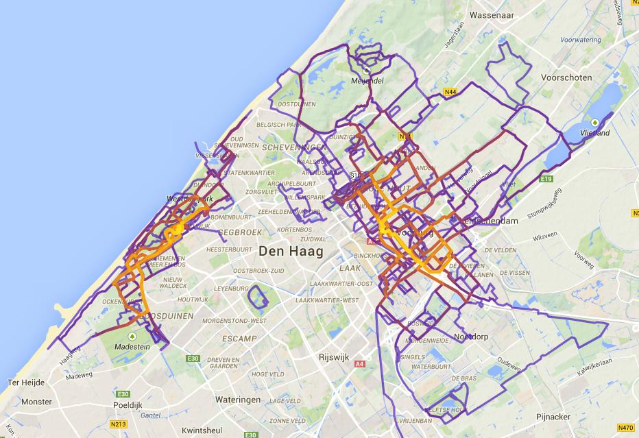 heelhardlopen - heatmap 2014