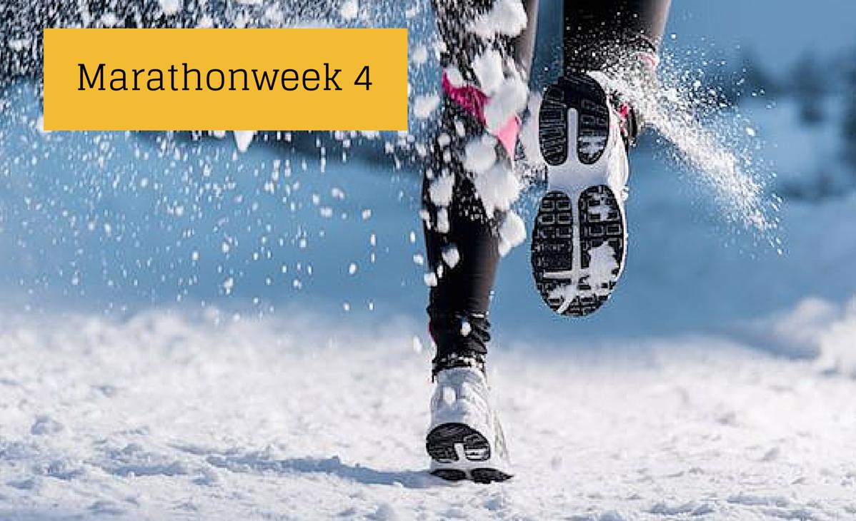 heelhardlopen - marathonweek 4 - discipline, afzien en een witte wereld