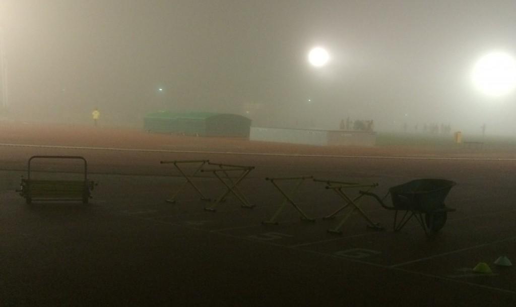 heelhardlopen - mist op maandag