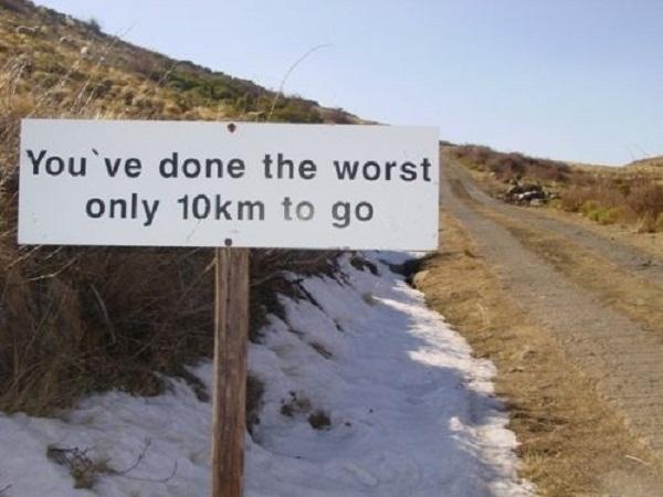 heelhardlopen - 32km sign