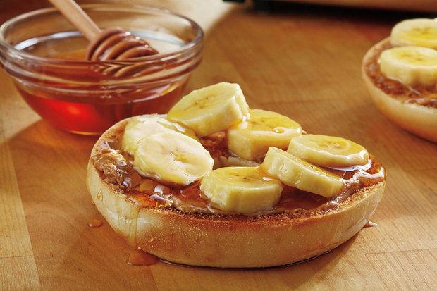 heelhardlopen - pre run snack - bagel banaan siroop